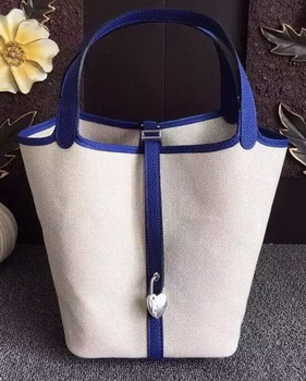 Hermes Picotin Lock 18cm Bag Canvas HPL8618T RoyalBlue