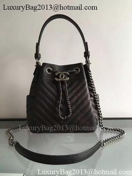 Chanel Hobo Bag Sheepskin Leather A33572 Black