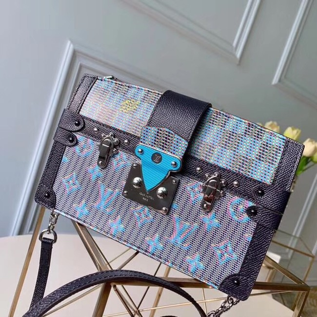 Louis Vuitton Trunk Clutch Original Leather Bag M55456 Blue