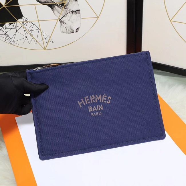 Hermes Cosmetic Bag H3700 Blue