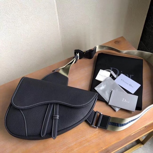 DIOR OBLIQUE SADDLE BELT BAG M9020 Royal Blue