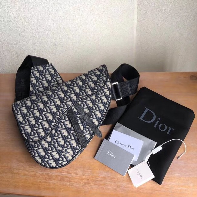 DIOR OBLIQUE SADDLE BELT BAG M9019 blue