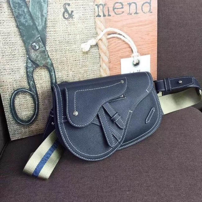 DIOR OBLIQUE SADDLE BELT BAG M9021 Royal Blue