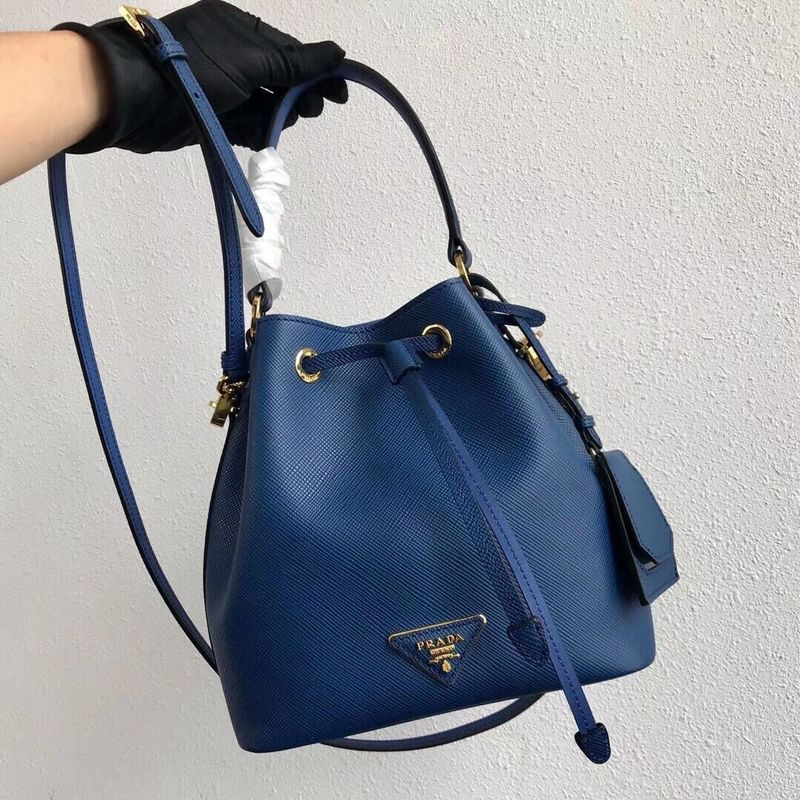 Prada Galleria Saffiano Leather Bag 1BE032 Blue