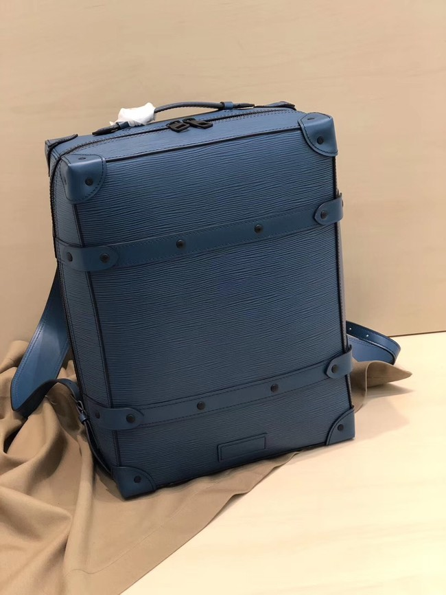 Louis vuitton original SOFT TRUNK Backpack M44752 blue