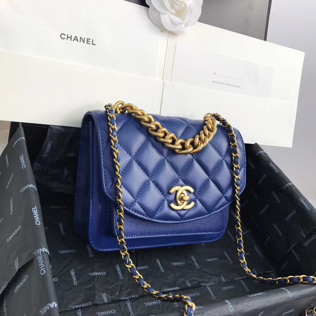 Chanel Small flap bag AS0784 blue