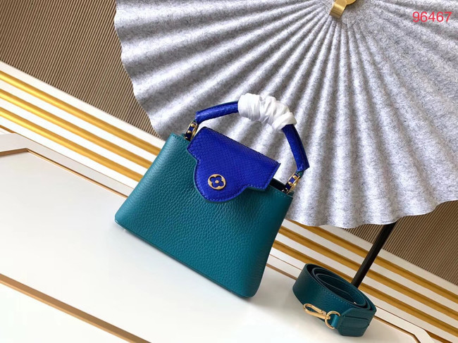 Louis Vuitton Original Taurillon leather CAPUCINES BB M95509 blue