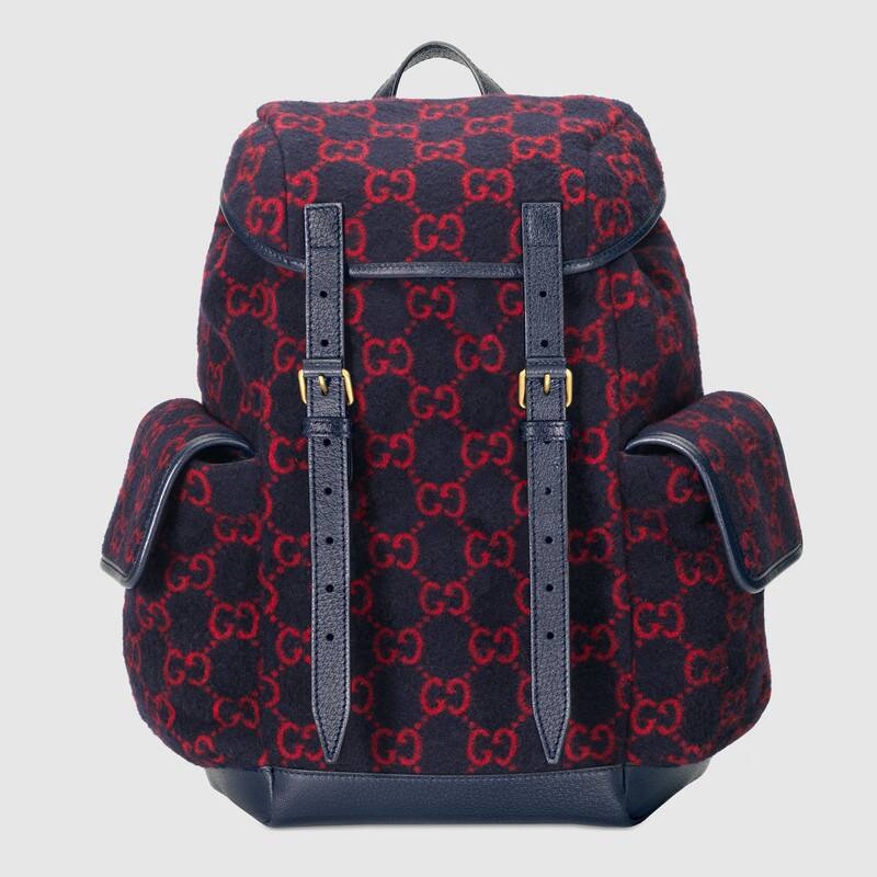 Gucci Small GG wool backpack 598184 blue