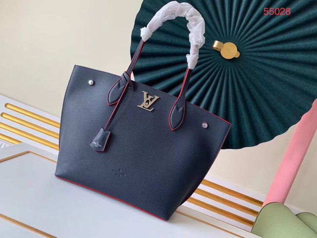 Louis vuitton original LOCKME GO M55028 Royal Blue