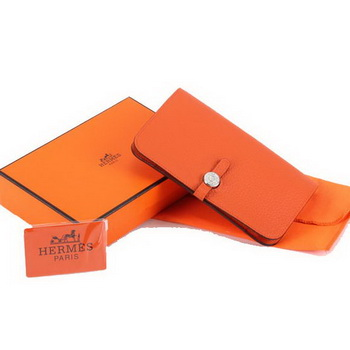 Hermes Dogon Combined Wallets A508 Orange